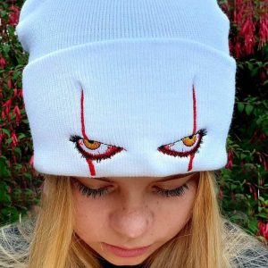 E-girl E-boy Gothic Punk Hat with Scary Clown Eyes 1