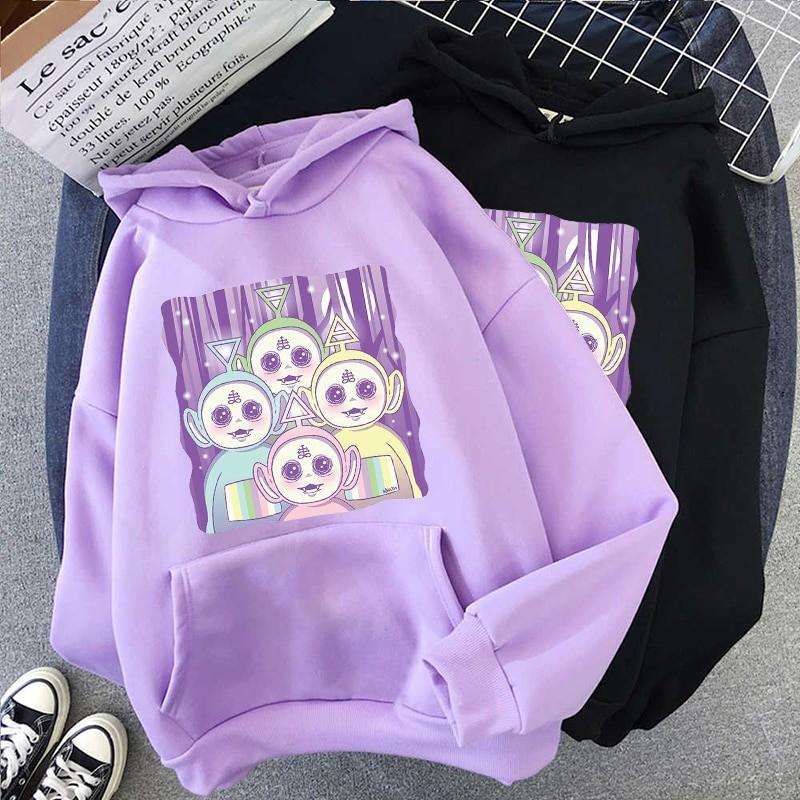 Aesthetic E-girl Harajuku hoodie Teletubbies 44