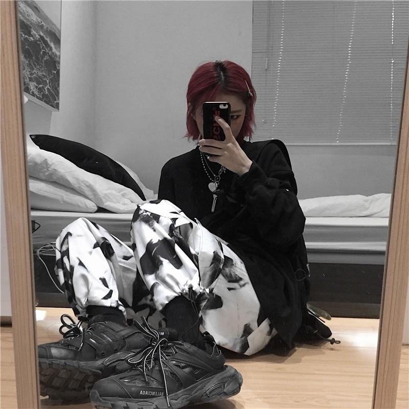 E-girl E-boy Punk Harajuku Cargo Pants Tie Dye 48