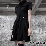 E-girl Pastel Goth Harajuku Dress with cross 2