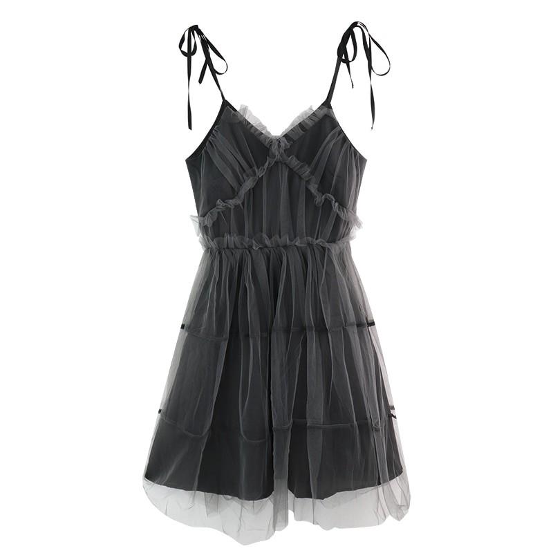 E-girl Pastel Goth Aesthetic Elegant Dress with Mesh 48