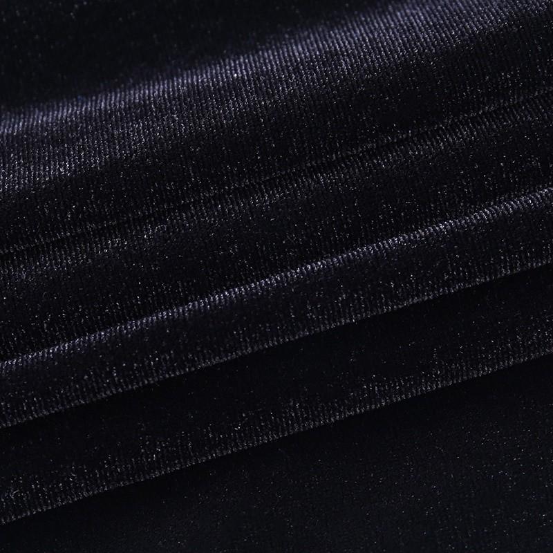 Gothic E-girl Vintage Elegant Black Velvet Dress 56