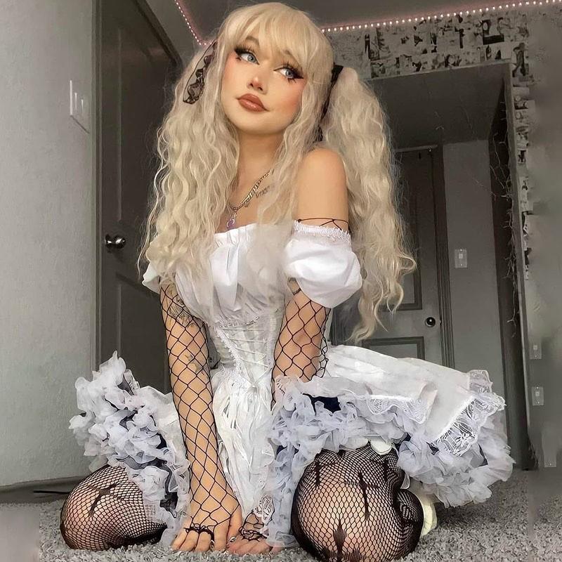 Harajuku E-girl Pastel Goth Soft girl Lolita Princess Mini Dress 49