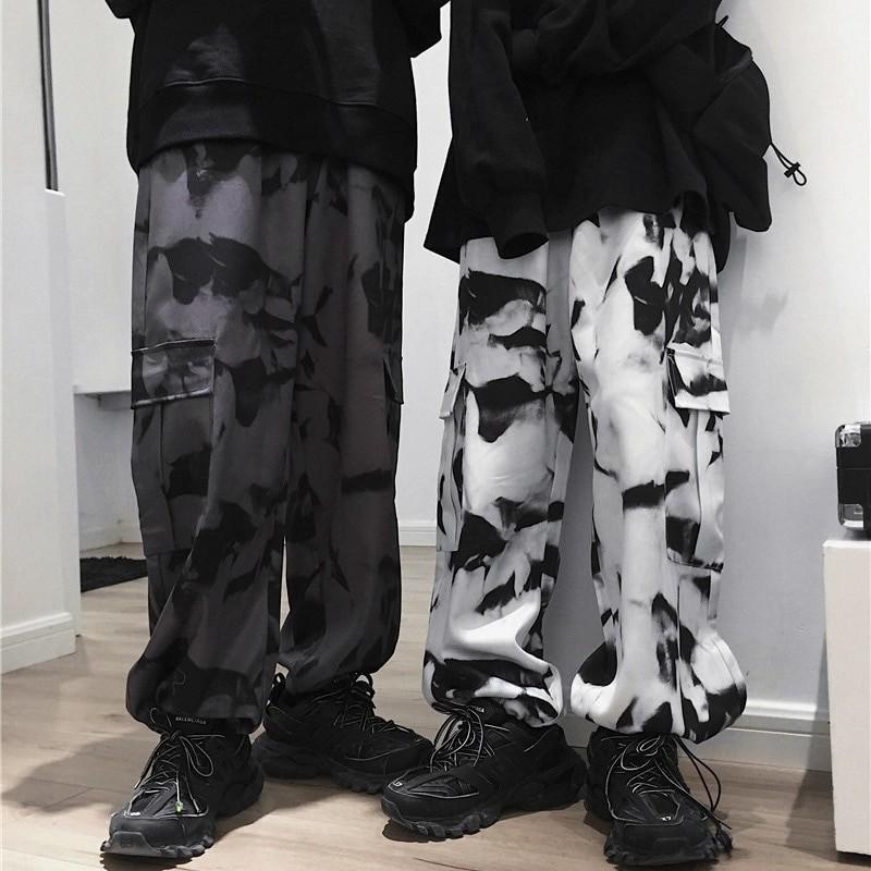 E-girl E-boy Punk Harajuku Cargo Pants Tie Dye 41