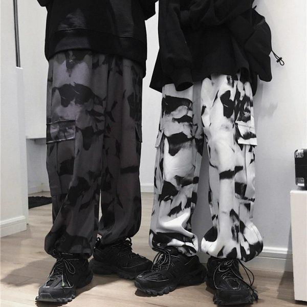 E-girl E-boy Punk Harajuku Cargo Pants Tie Dye 3