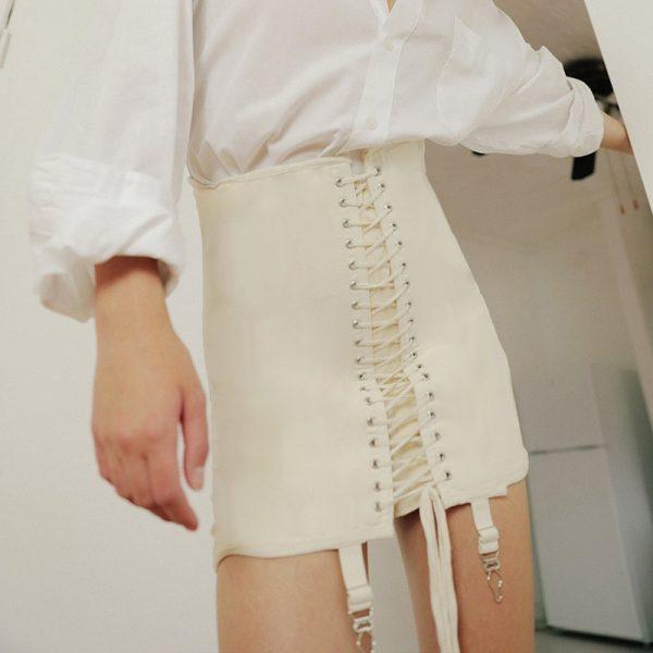 Pastel Gothic E-girl Punk Y2K Mini Lace Up Aesthetic Skirts 4