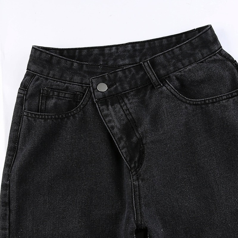 E-girl Punk Grunge Y2K High Waist Jeans with Holes 45