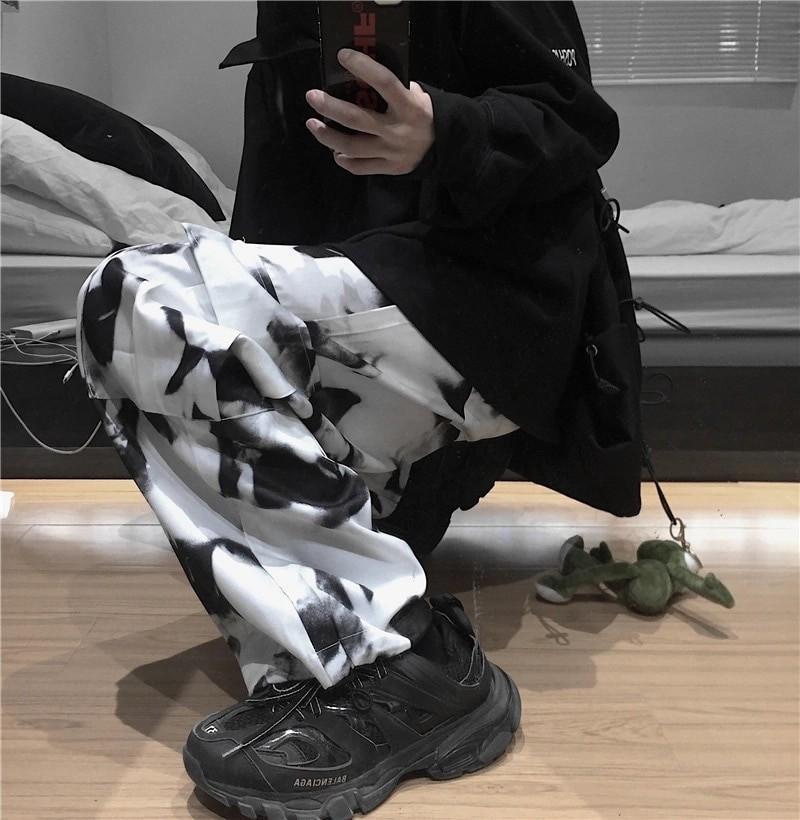 E-girl E-boy Punk Harajuku Cargo Pants Tie Dye 47