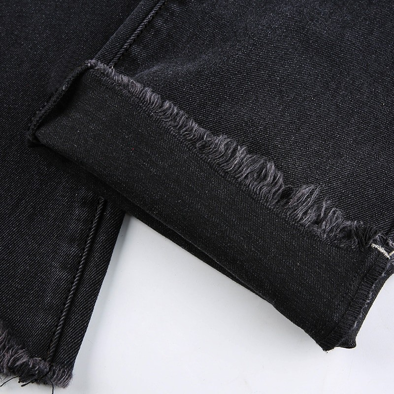 E-girl Punk Grunge Y2K High Waist Jeans with Holes 50