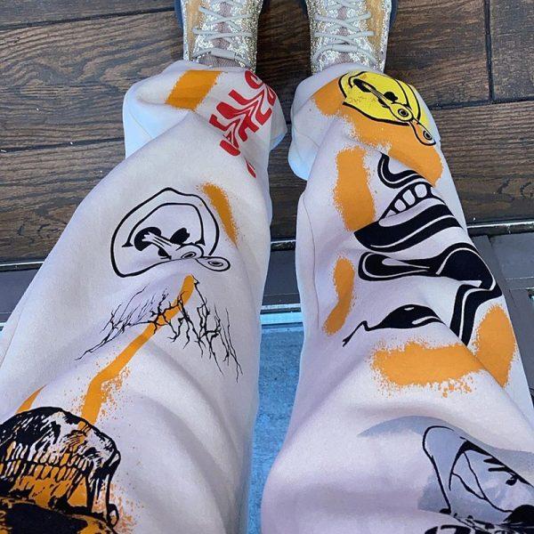 Harajuku Y2K E-girl Punk Cartoon Printed Pants 3