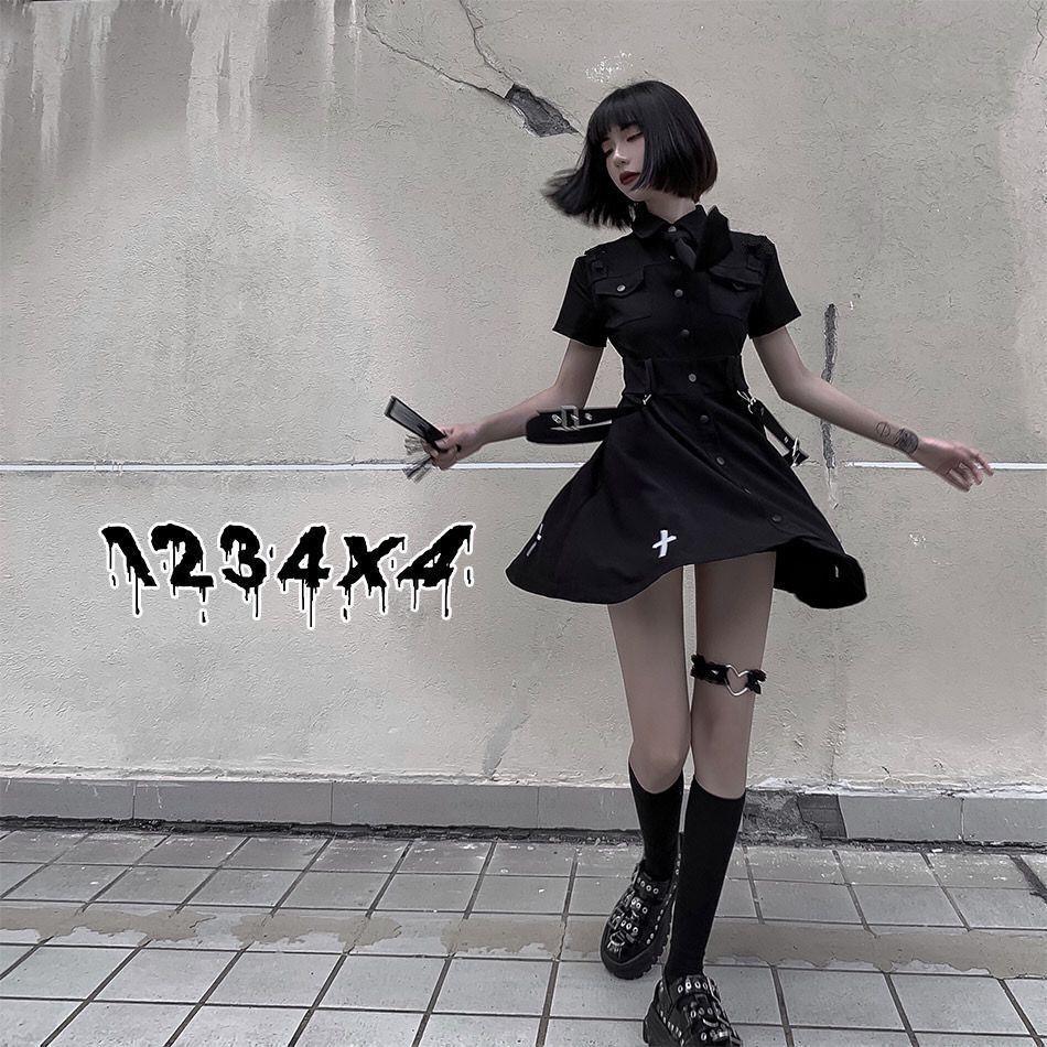 E-girl Pastel Goth Harajuku Dress with cross 42