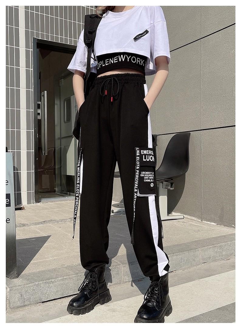 Harajuku E-girl Set Cargo Pants Sweatshirt Tank Top 42
