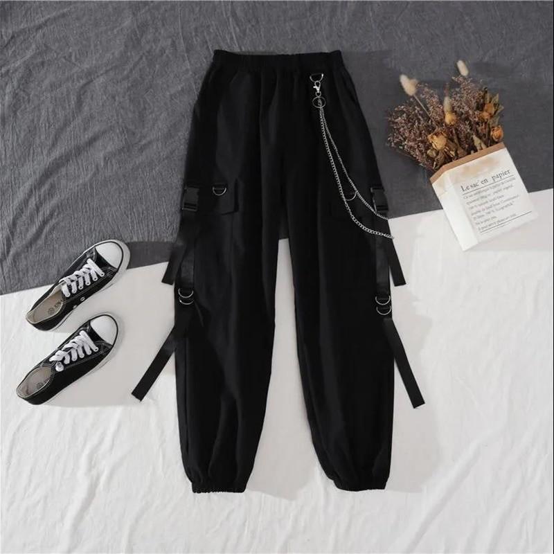 Alt Clothes Style Harajuku Set Cargo Pants and Swaetshirt 46
