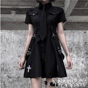 E-girl Pastel Goth Harajuku Dress with cross 16