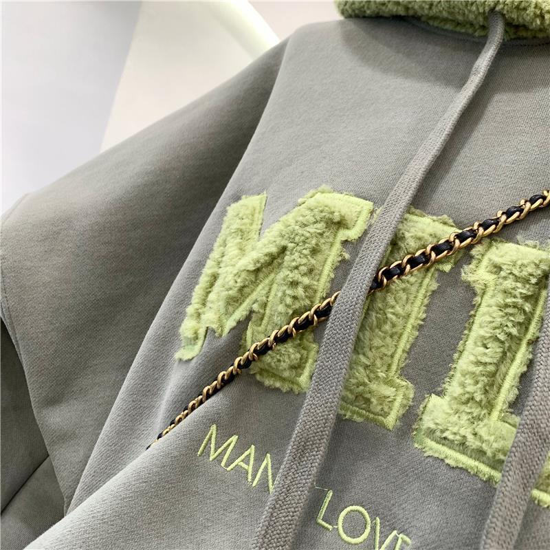 Harajuku E-girl Streetwear Thick Hoodies with Letters 45