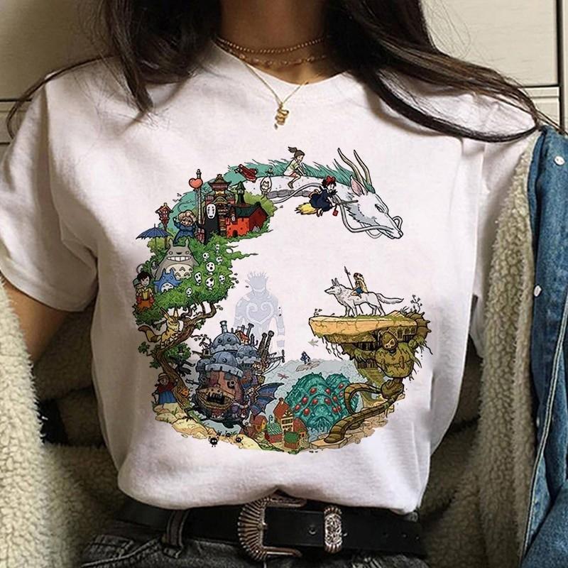 Harajuku Anime Spirited Away Kawaii T-shirt 56