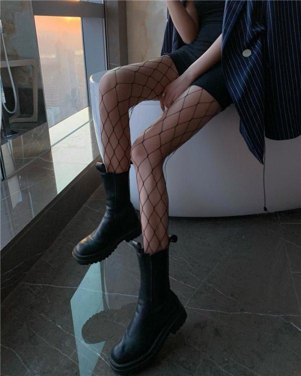 E-girl Pastel Gothic Punk Fishnet Stockings 5