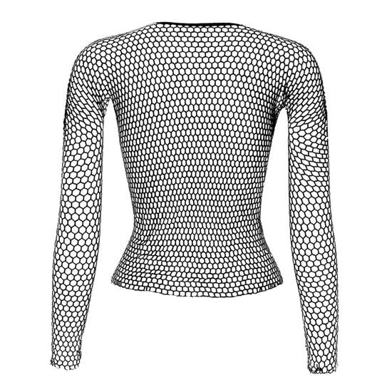 Punk E-girl Gothic Fishnet Bodystocking Long Sleeve Underwear 42
