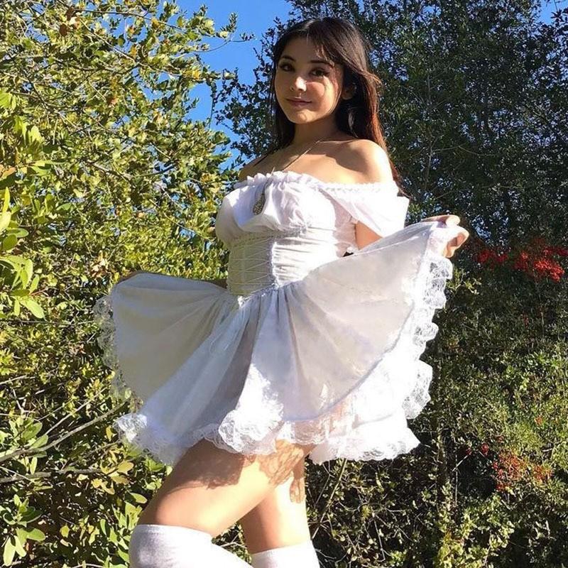 Harajuku E-girl Pastel Goth Soft girl Lolita Princess Mini Dress 47