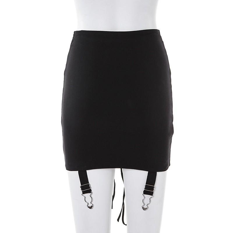 Pastel Gothic E-girl Punk Y2K Mini Lace Up Aesthetic Skirts 50