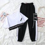 Harajuku Alt Clothes E-girl Streetwear 3 Pieces Set Cargo Pants Sweatshirt and Tank Top 2