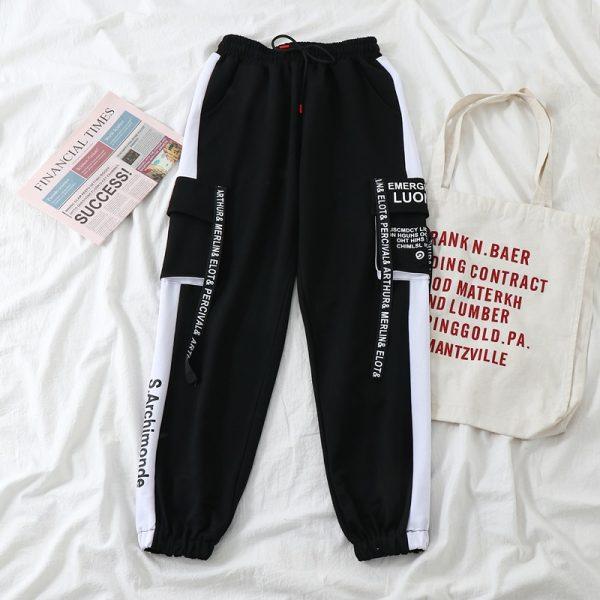 Harajuku Alt Clothes E-girl Streetwear 3 Pieces Set Cargo Pants Sweatshirt and Tank Top 3