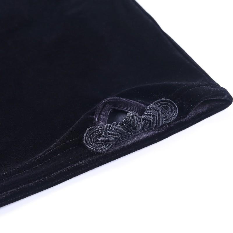 Gothic E-girl Vintage Elegant Black Velvet Dress 54