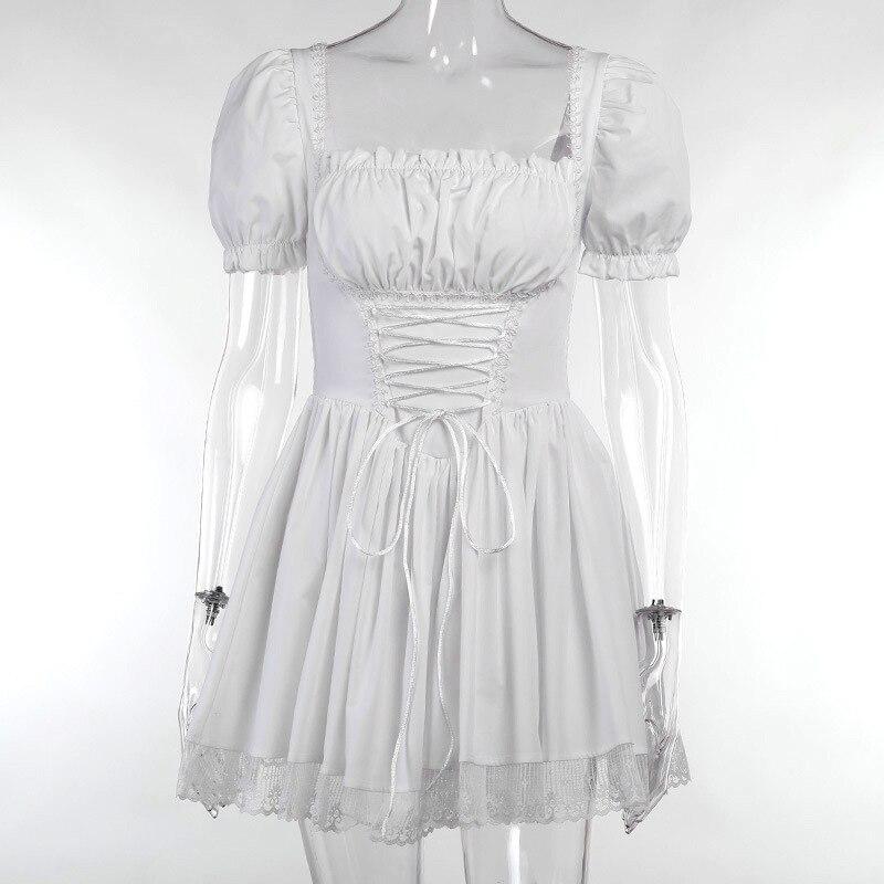 Harajuku E-girl Pastel Goth Soft girl Lolita Princess Mini Dress 55