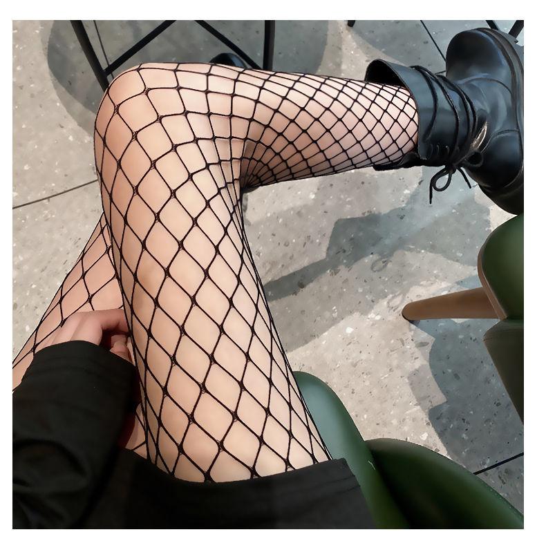E-girl Pastel Gothic Punk Fishnet Stockings 44