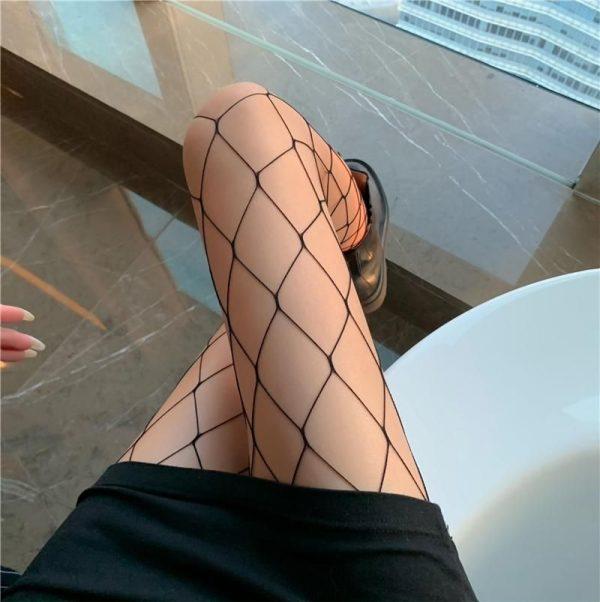 E-girl Pastel Gothic Punk Fishnet Stockings 2