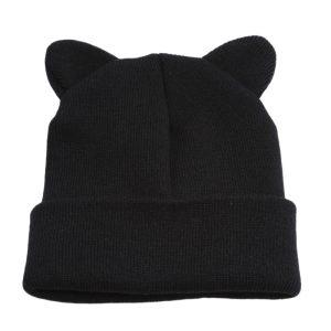 E-girl Soft Girl Kawaii Warm Winter Hat with Cat Ears 7