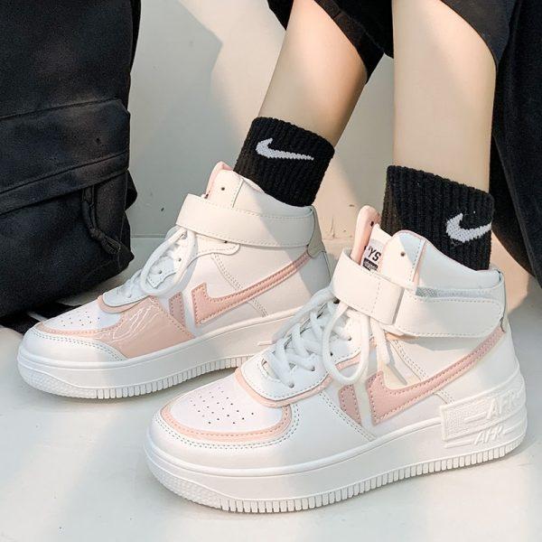 Soft Girl Harajuku Kawaii Aesthetic Autumn Winter High-Top Sneakers 4