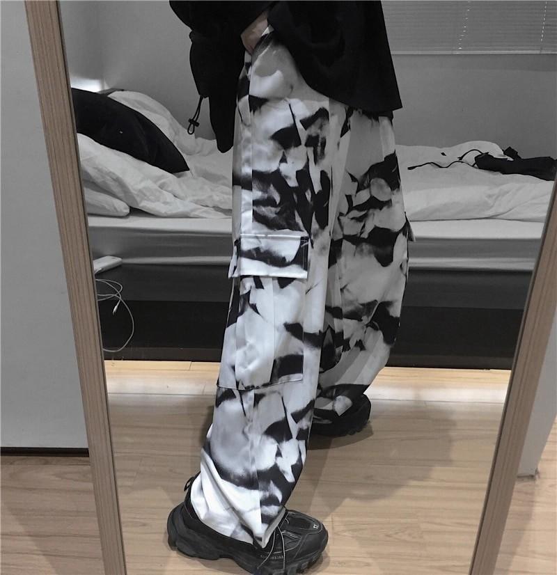 E-girl E-boy Punk Harajuku Cargo Pants Tie Dye 46