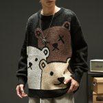 E-boy Harajuku Y2K Cartoon Bear Aesthetic Sweater 6