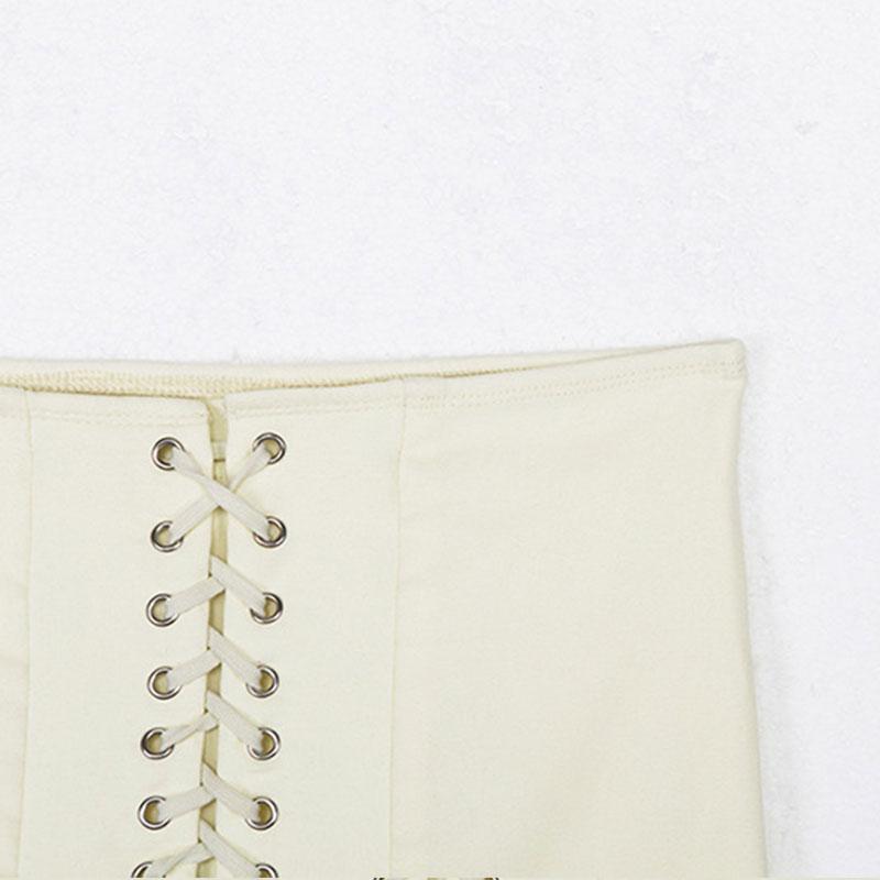 Pastel Gothic E-girl Punk Y2K Mini Lace Up Aesthetic Skirts 57