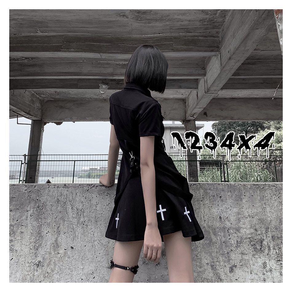 E-girl Pastel Goth Harajuku Dress with cross 45