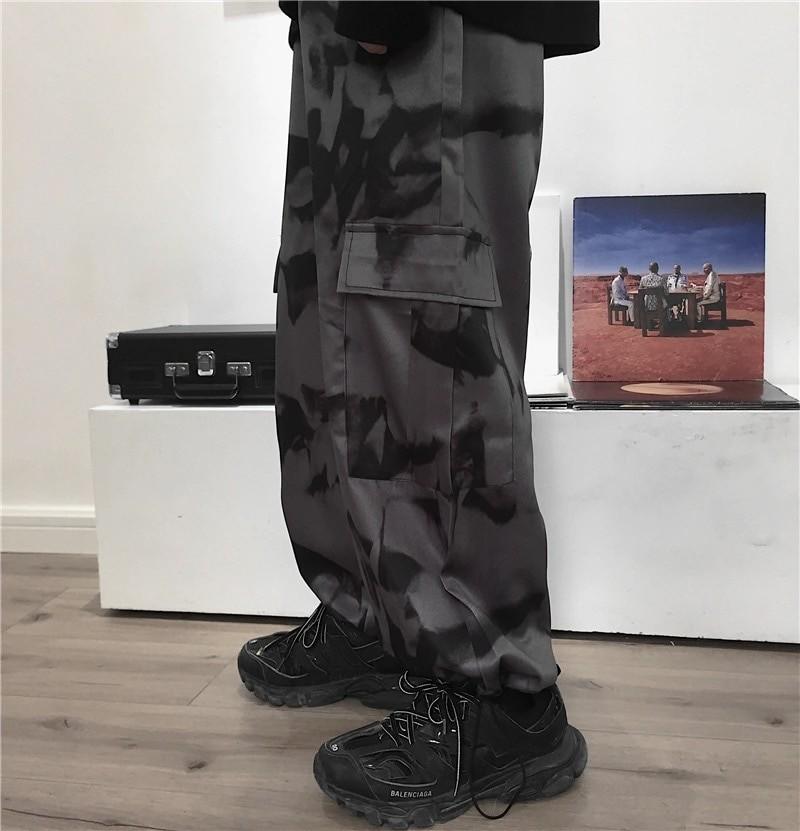 E-girl E-boy Punk Harajuku Cargo Pants Tie Dye 44