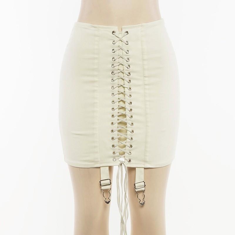 Pastel Gothic E-girl Punk Y2K Mini Lace Up Aesthetic Skirts 55