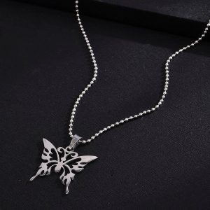 E-girl Soft Girl Kawaii Butterfly Pendant Necklace 1