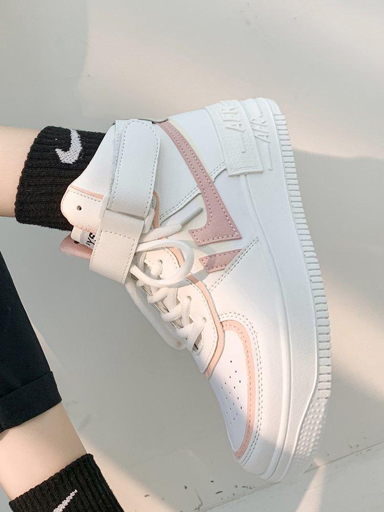Soft Girl Harajuku Kawaii Aesthetic Autumn Winter High-Top Sneakers 61