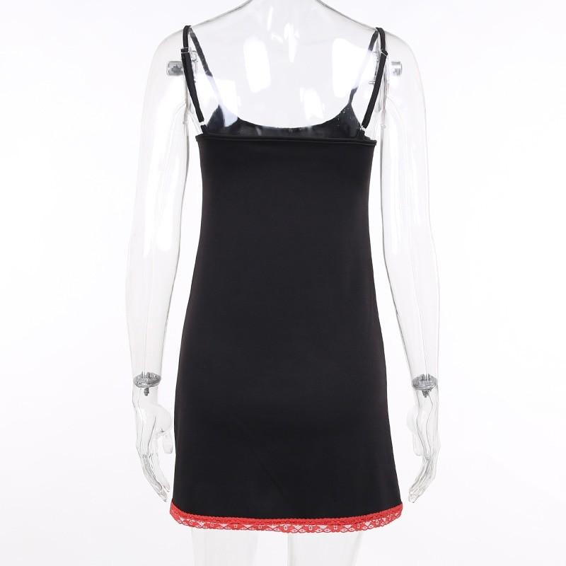 Aesthetic Pastel Gothic Egirl Mini Dress with Anime Death Note Print 48