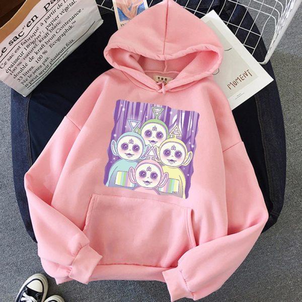Aesthetic E-girl Harajuku hoodie Teletubbies 4