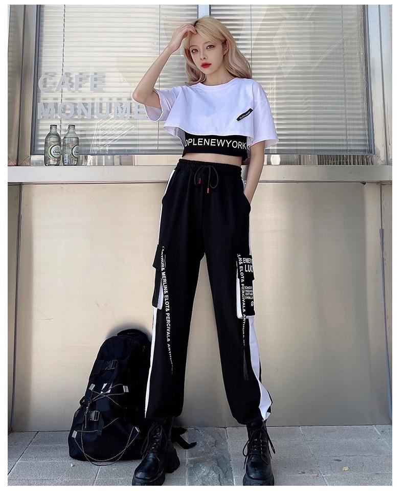 Harajuku E-girl Set Cargo Pants Sweatshirt Tank Top 41