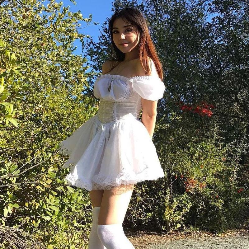Harajuku E-girl Pastel Goth Soft girl Lolita Princess Mini Dress 51