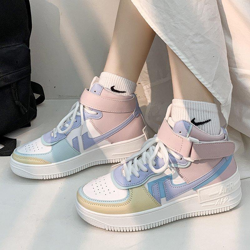 Soft Girl Harajuku Kawaii Aesthetic Autumn Winter High-Top Sneakers 58