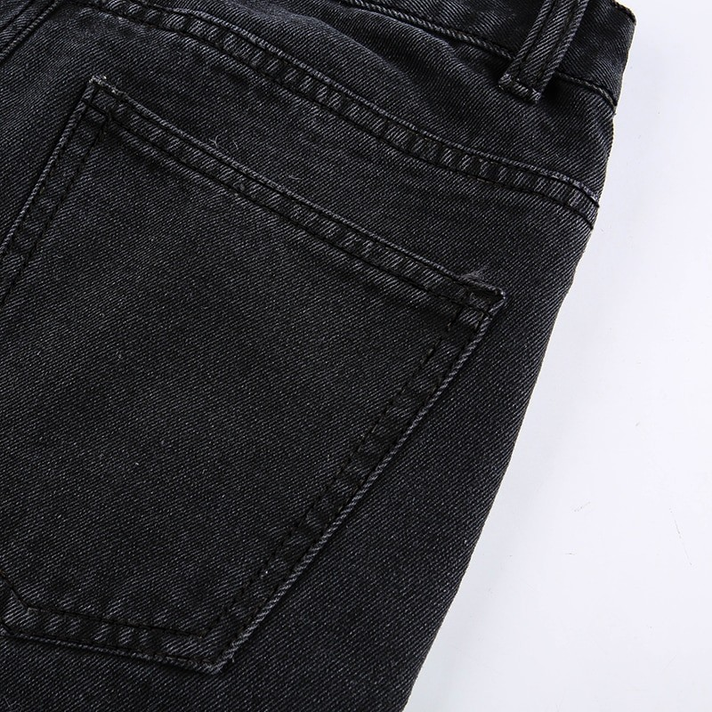E-girl Punk Grunge Y2K High Waist Jeans with Holes 51