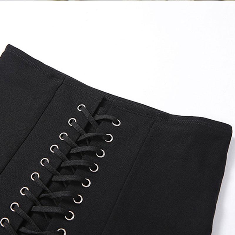 Pastel Gothic E-girl Punk Y2K Mini Lace Up Aesthetic Skirts 51