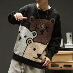 E-boy Harajuku Y2K Cartoon Bear Aesthetic Sweater 5