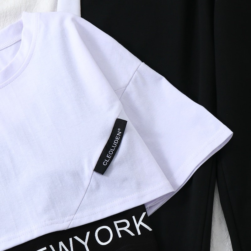 Harajuku E-girl Set Cargo Pants Sweatshirt Tank Top 57