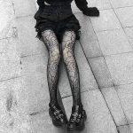 E-girl Pastel Gothic Punk Spiderweb Tights 2